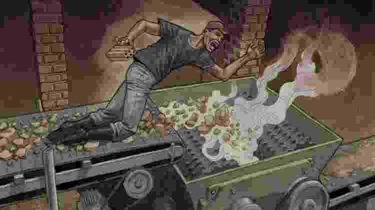 Ilustração par amatéria sobre acidentes de trabalho - Vitor Flynn/Repórter Brasil - Vitor Flynn/Repórter Brasil