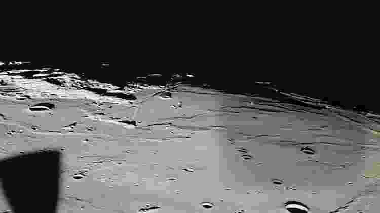 A lua, no seu eterno escuro - Nasa