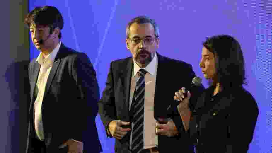 Ministro da Educação, Abraham Weintraub, durante apresentação do programa Future-se - Fátima Meira/Futura Press/Estadão Contéudo