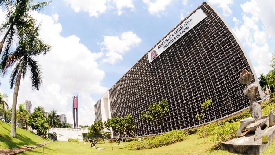 Fachada da Assembleia Legislativa do Estado de São Paulo (Alesp); órgão reconheceu calamidade pública nos municípios em razão da pandemia - Roberto Navarro/Alesp
