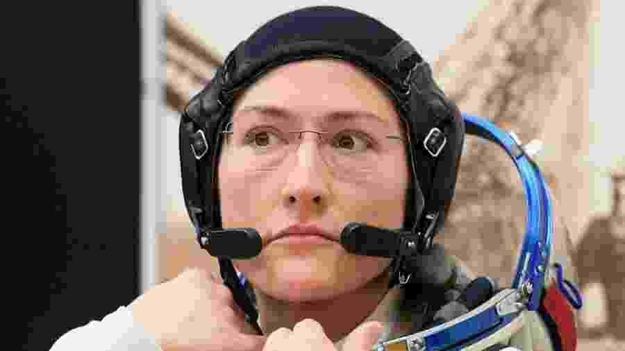 14.mar.2019 - A astronauta norte-americana Christina Koch - Kirill Kudryavtsev/AFP