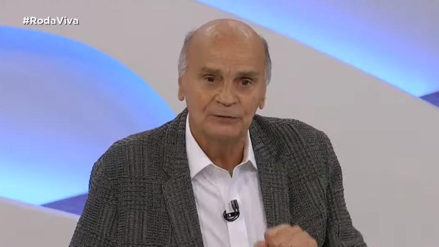 Drauzio Varella em entrevista para o Roda Viva, na TV Cultura - Reprodução