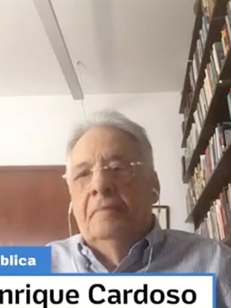 Segundo FHC, Lula tem compromisso com a democracia. Quanto a Bolsonaro, disse que não gosta do estilo por vezes agressivo - Reprodução/MOV