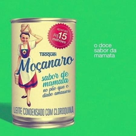 """Meme dos gastos do governo com leite condensado criou o """"Moçanaro"""" - Reprodução/Twitter"""