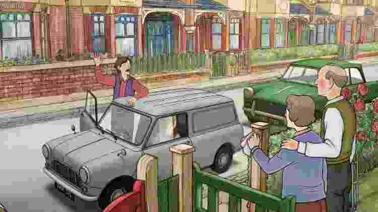 Ethel e Ernest se mudam para uma vila de casas geminadas - Reprodução - Reprodução