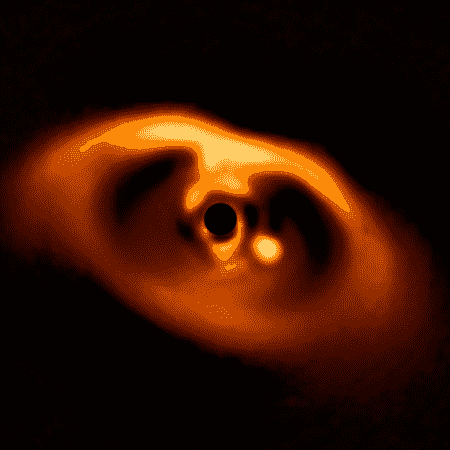"""Disco ao redor da estrela está """"alimentando"""" o exoplaneta PDS 70b - ESO - ESO"""