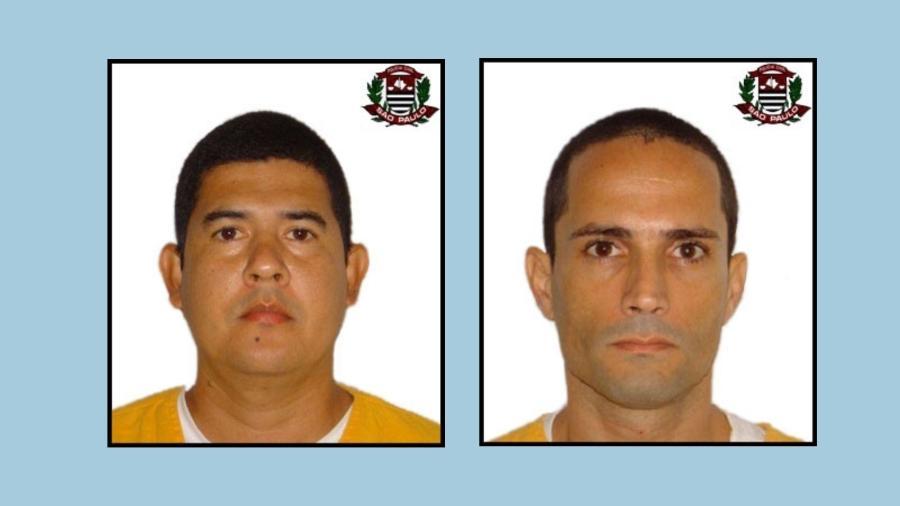 9.jul.2021 - Willian Gaona Becerra (à esquerda na imagem) e Marco Rodolfo Rodrigues Ortega, sequestradores do publicitário Washington Olivetto, em fotos de arquivo da Polícia Civil - Divulgação/Polícia Civil de São Paulo