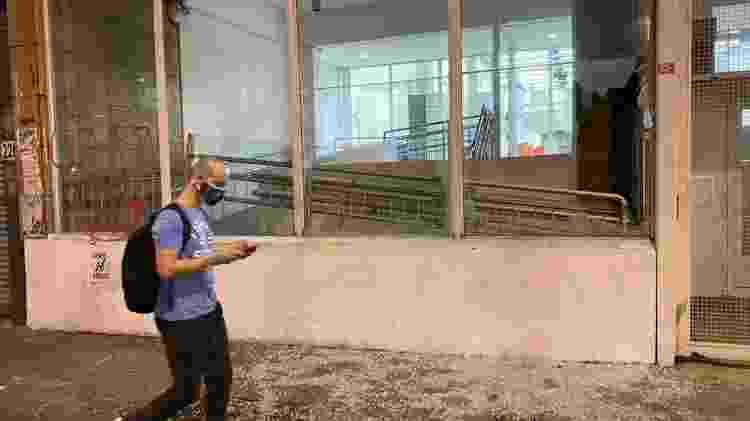 Agência bancária com vidraça quebrada na rua da Consolação, em São Paulo - Herculano Barreto Filho/UOL - Herculano Barreto Filho/UOL
