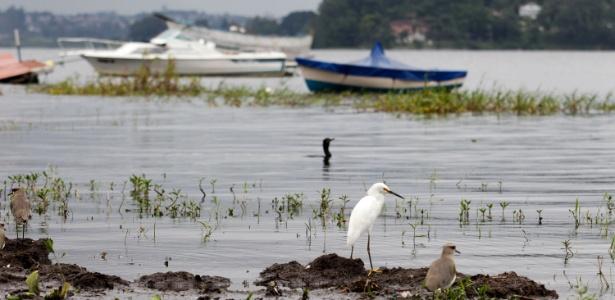 Vista da represa Guarapiranga, na zona sul da capital paulista