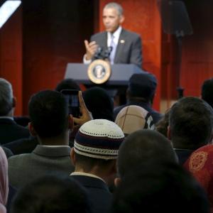 Obama visitou pela primeira vez uma mesquita em Maryland