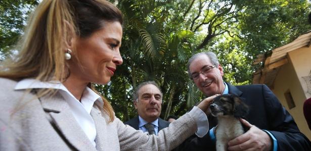 Cláudia Cruz e Eduardo Cunha, em foto de março de 2015