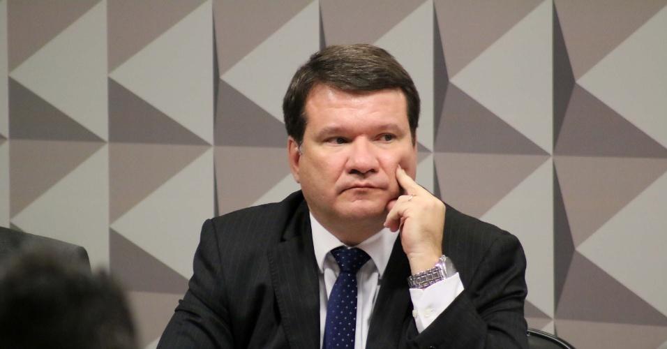 3.mai.2016 - Ricardo Lodi Ribeiro, professor Adjunto de Direito Financeiro da Universidade do Estado do Rio de Janeiro, participa da sessão da Comissão do Impeachment do Senado Federal, em Brasília