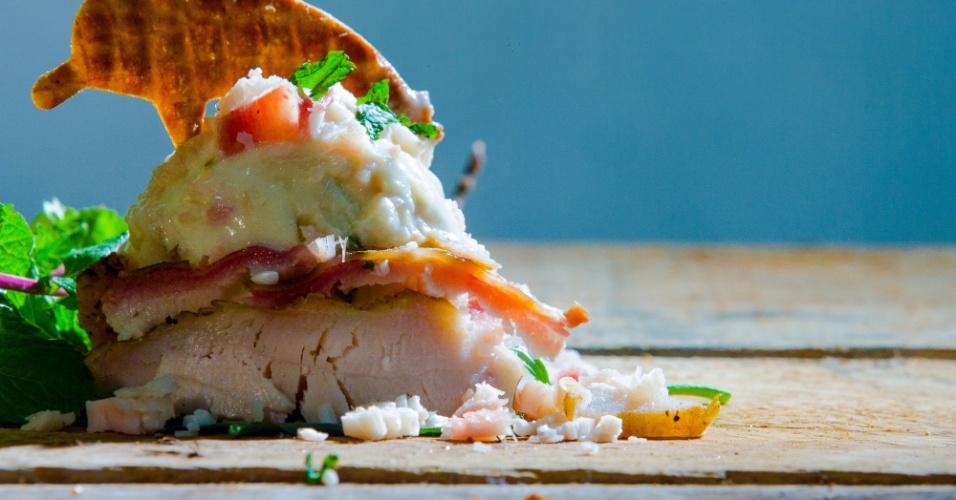 O sorvete de pirarucu defumado (foto) pode ser servido como antepasto e é uma das novidades locais da Boto Sorveteria Artesanal
