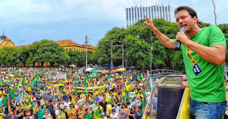 O deputado federal Nelson Marchezan Júnior (PSDB-RS), que concorre à Prefeitura de Porto Alegre
