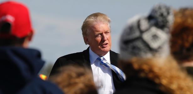 Donald Trump durante um comício na cidade histórica de Gettysburg, na Pensilvânia