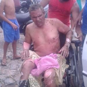 O cobrador José Nunes de Sousa Neto, 56, não conseguiu escapar do ônibus atacado - Reprodução/via WhatsApp