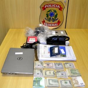 PF apreendeu quase R$ 33 mil, um notebook, documentos e outros itens na 2ª fase da Operação Ponto Final