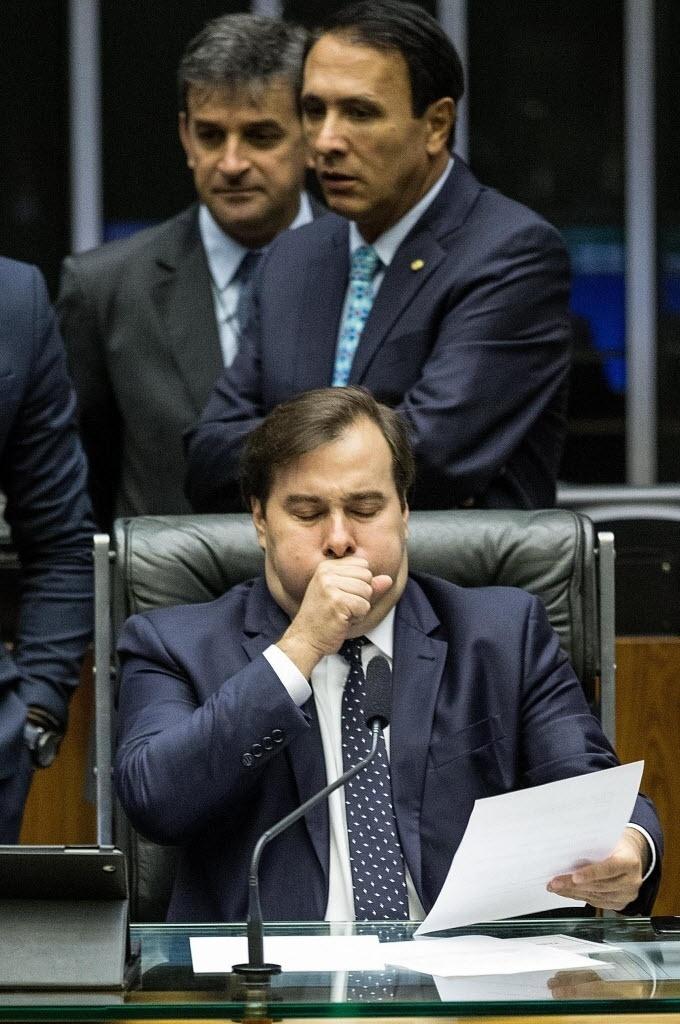Rodrigo Maia preside sessão na Câmara em denúncia contra Michel Temer