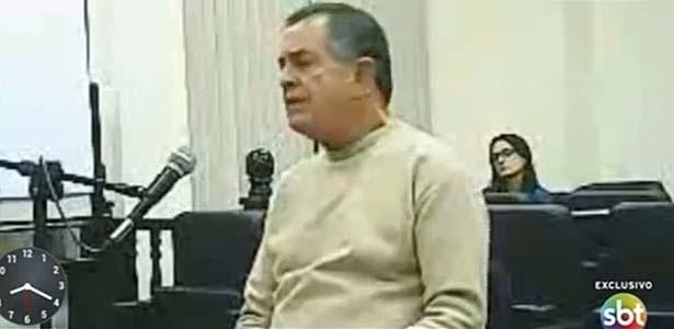 O tentente-coronel José Afonso Adriano Filho durante depoimento - Reprodução/SBT