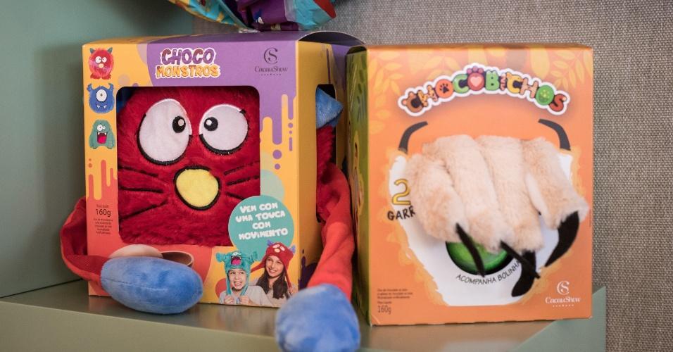 Chocomonstros e Chocobichos da Cacau Show
