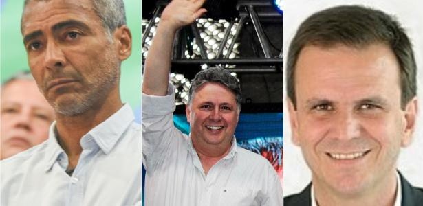 Romário, Eduardo Paes e Anthony Garotinho: adversários declararam bens à Justiça Eleitoral