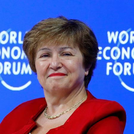 25.jan.2019 - Kristalina Georgieva, presidente do Banco Mundial participa de painel no Fórum Econômico Mundial, em Davos (Suíça) - Arnd Wiegmann/Reuters