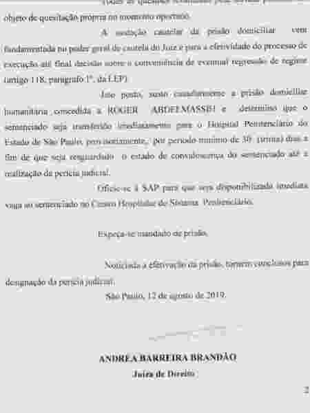 Decisão Roger Abdelmassih - Reprodução - Reprodução