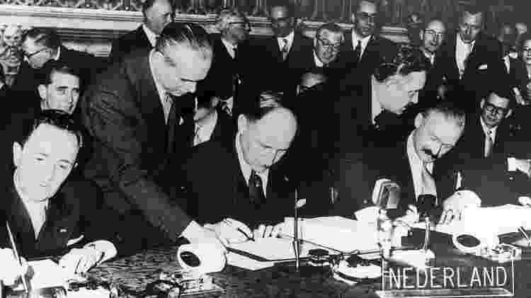 Tratado de Roma criou embrião da União Europeia - Getty Images - Getty Images