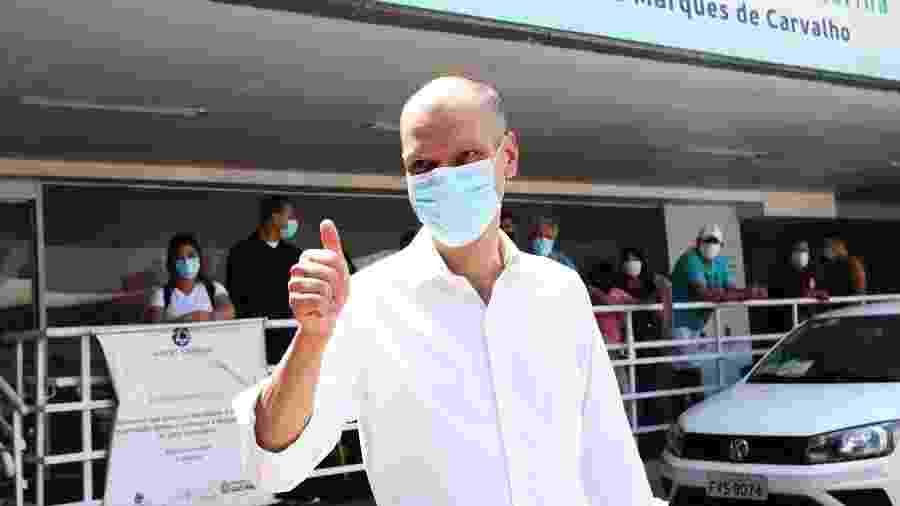 5.out.2020 - Bruno Covas (PSDB) visita o Hospital Dr. Gilson de Cássia Marques de Carvalho, na zona sul de São Paulo  - RENATO S. CERQUEIRA/FUTURA PRESS/ESTADÃO CONTEÚDO