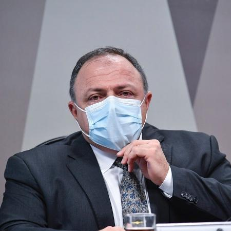 20.mai.2021 - O ex-ministro da Saúde, Eduardo Pazuello, durante depoimento à CPI da Covid - Leopoldo Silva/Agência Senado