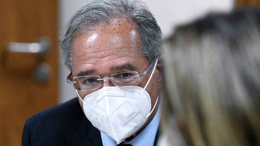 Ministro Paulo Guedes disse que o Brasil enfrentou o choque da covid-19 de forma melhor do que muitos esperavam e está bem posicionado para uma recuperação - Edu Andrade/Ministério da Economia