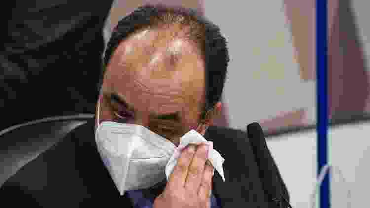 3.ago.2021 - Reverendo Amilton de Paula chora durante depoimento à CPI da Covid - Jefferson Rudy/Agência Senado - Jefferson Rudy/Agência Senado