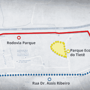 Mapas ciclovia - Parque Ecológico - Arte UOL
