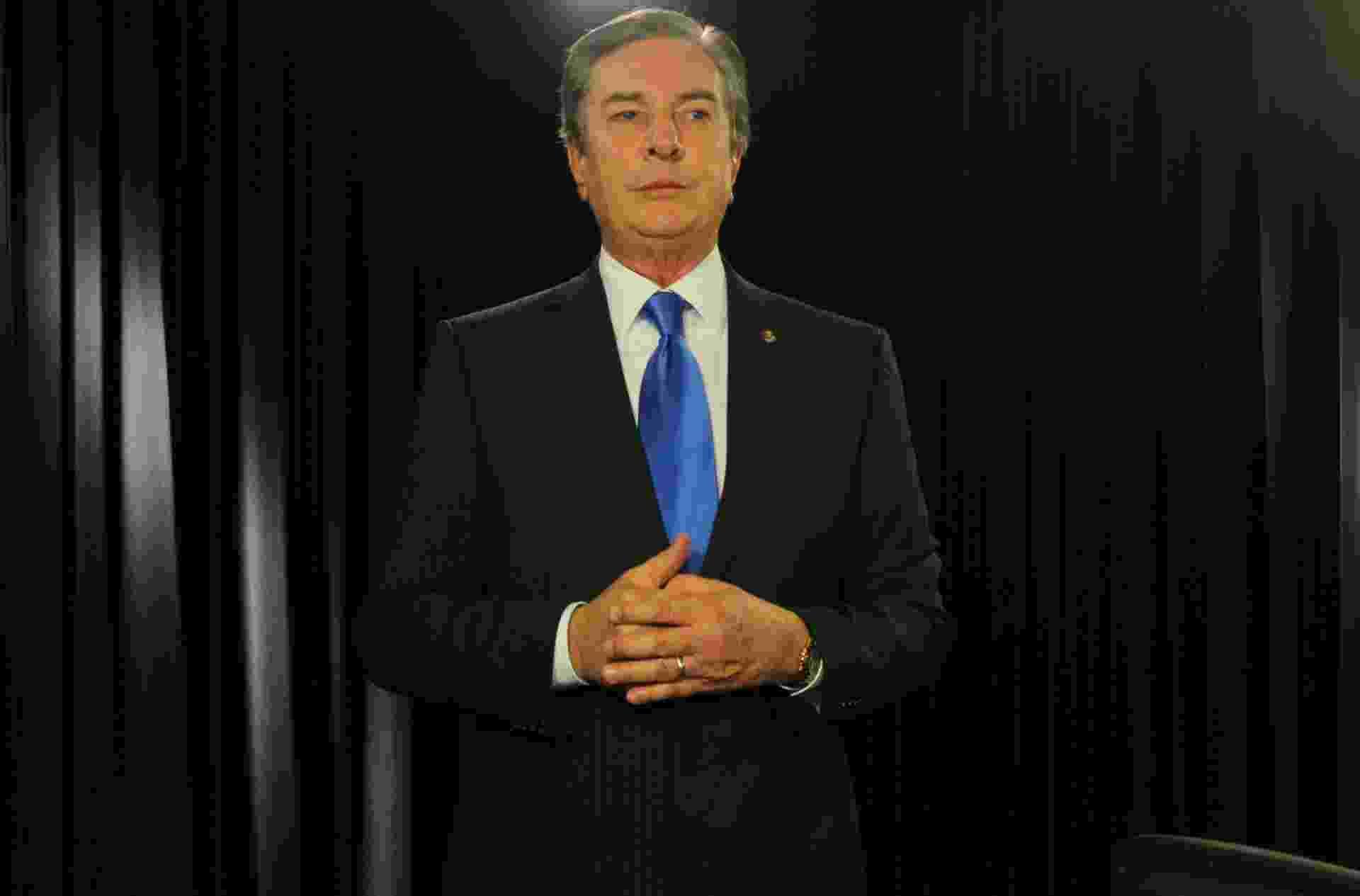 Ex-presidente e senador Fernando Collor (PTB-AL) concedeu entrevista ao UOL em 22.set.2015. A gravação ocorreu no estúdio do UOL em Brasília - Douglas Pereira/UOL