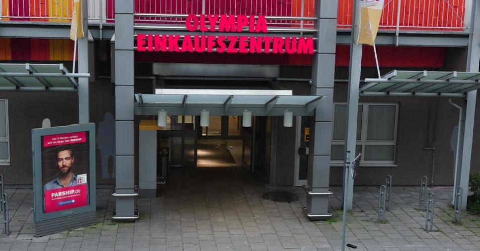 22.jul.2016 - Fachada do shopping Olympia, em Munique, Alemanha, onde um tiroteio deixou mortos e feridos