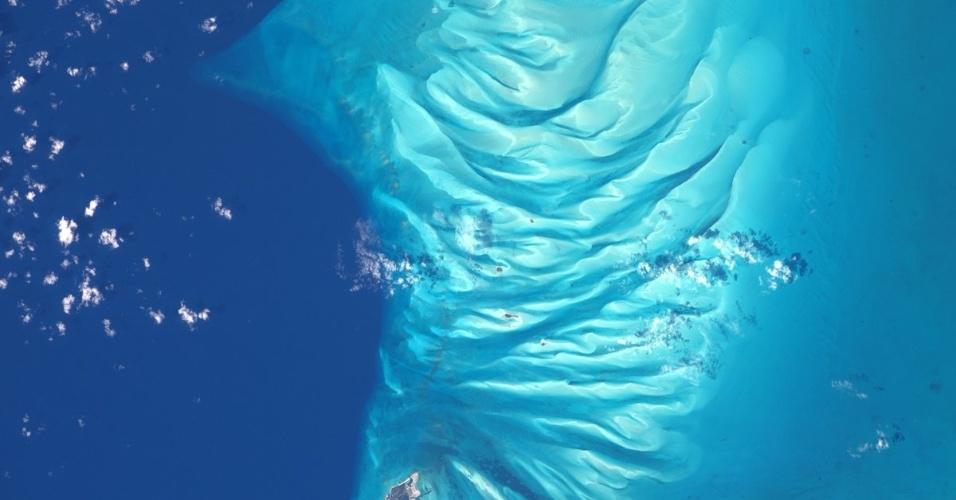13.fev.2017 - Astronauta americano Shane Kimbrough tira foto das Bahamas direto da Estação Espacial Internacional