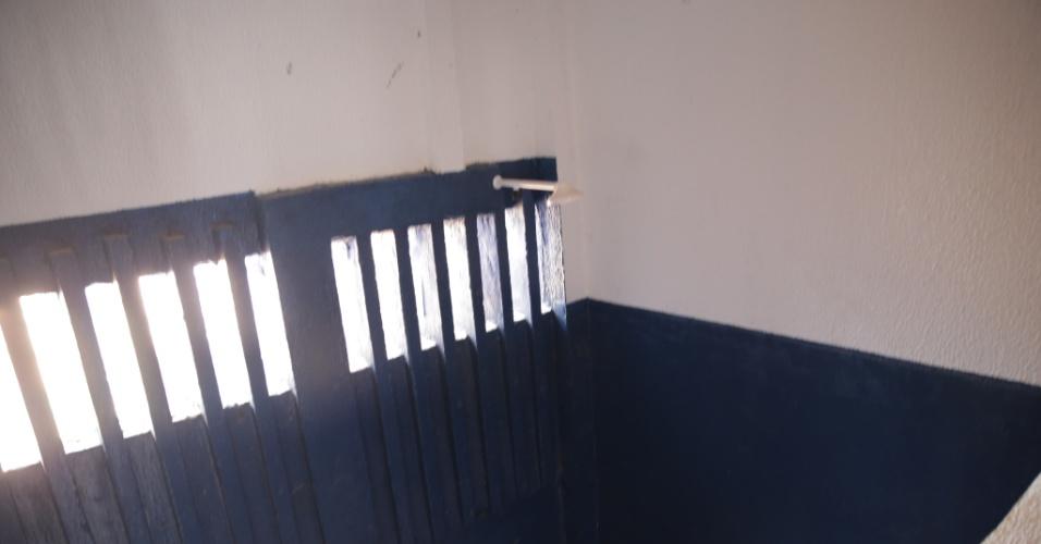 26.out.2017 -- Banheiro em cela da penitenciária estadual de Alcaçuz, em Nísia Floresta (RN)