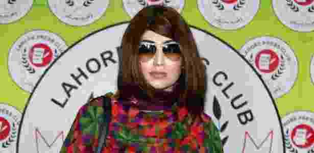 A paquistanesa celebridade das redes sociais, Qandeel Baloch, foi assassinada 'por honra' pelo seu irmão - AFP - AFP