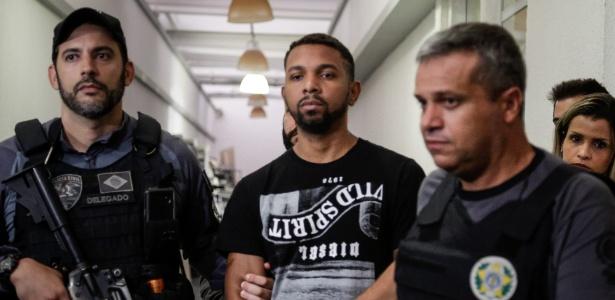 Rogério 157 ao ser preso pela Polícia Civil do Rio em dezembro de 2017
