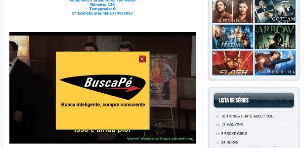 site pirata com anuncio - Reprodução - Reprodução