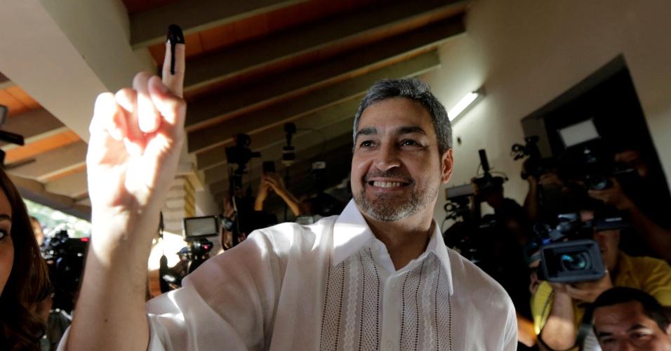 22.abr.2018 - O conservador Mario Abdo Benítez, novo presidente do Paraguai