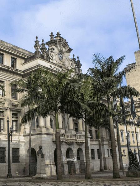 Fachada da faculdade de direito da USP no Largo São Francisco, no centro de São Paulo - Folhapress