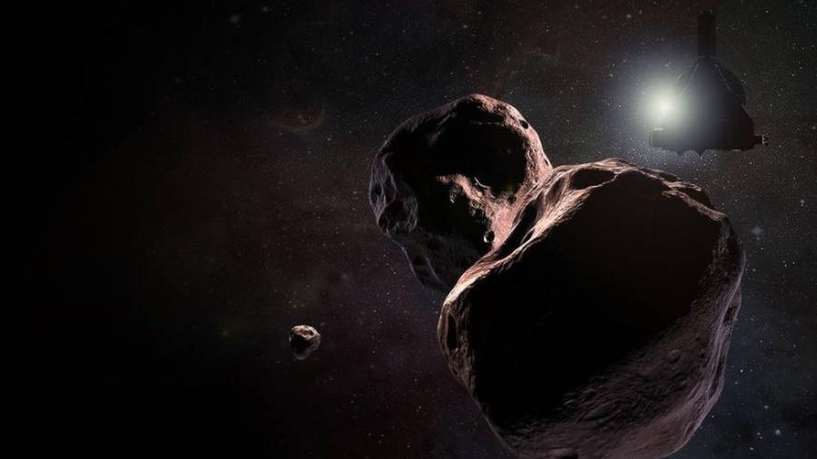 Os dados enviados pela sonda confirmam que o formato do objeto lembra o de um amendoim - Nasa
