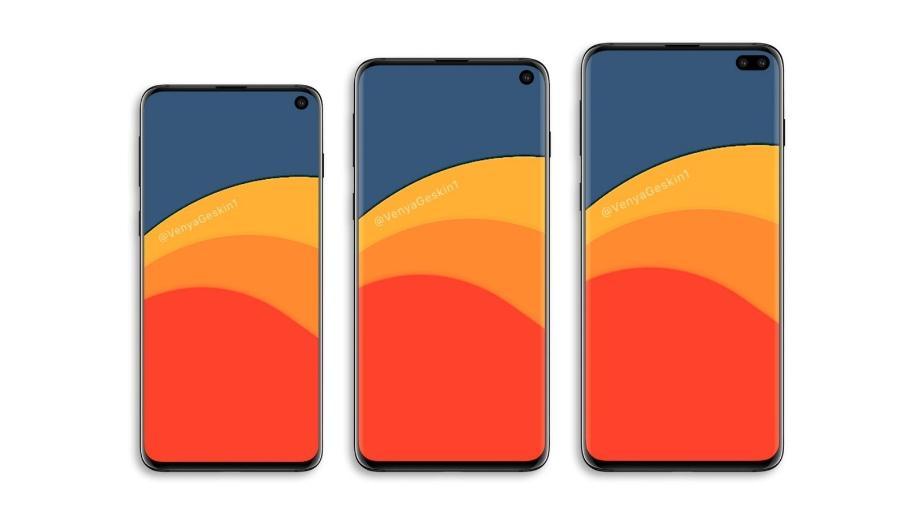 Este é o provável design da nova linha do Galaxy S10 - Reprodução