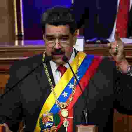 Nicolás Maduro, durante discurso na Assembleia Constituinte, em Caracas - Federico Parra/AFP