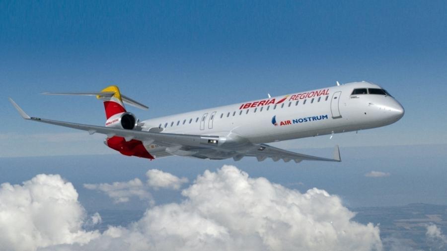 Bombardier CRJ1000 da Air Nostrum - Divulgação
