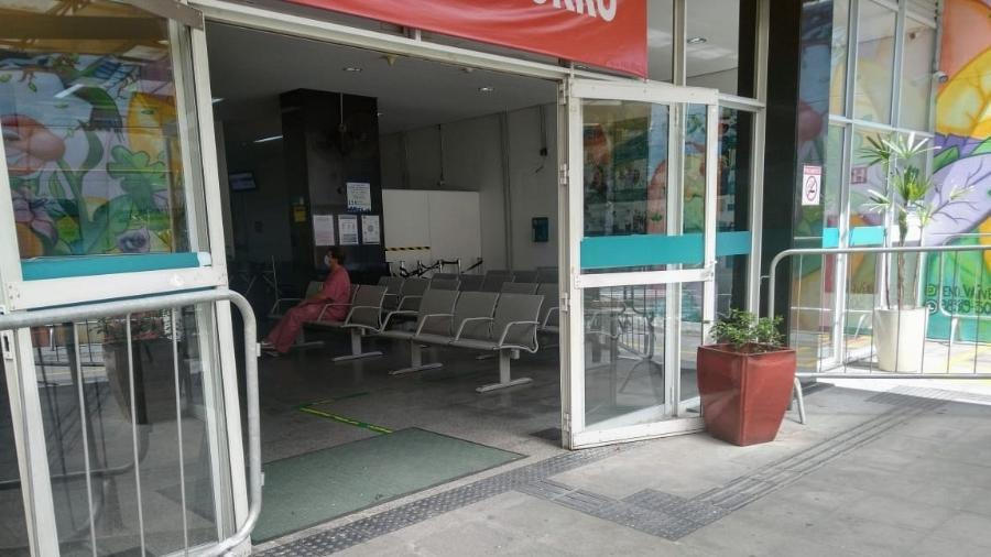 Pronto-socorro do Hospital Municipal Municipal Mboi Mirim vazio, em São Paulo - Cleber Souza/UOL