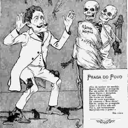 Charge contra Oswaldo Cruz - Reprodução