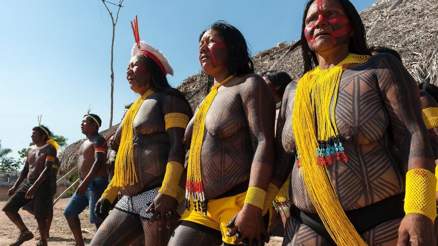 Imagem ilustrativa de indígenas no Pará; Os alvos desta segunda fase da operação batizada de Mundurukânia são suspeitos de envolvimento em uma série de crimes - Alejandro Zambrana/SESAI/Ministério da Saúde