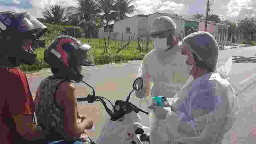 Barreira sanitária na cidade de Campo Grande-MS para evitar a propagação do novo coronavírus - Reprodução/Facebook